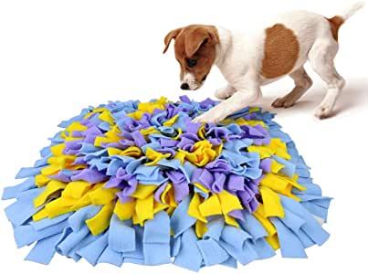 KYC Chien Snuffle Tapis Snuffle Mat Chien pour Animal Domestique Nosework Lent Alimentation d'entraînement Play Puppy Cat Puzzle interactif Jouets Funny Pliable Couverture